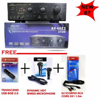 AV-6022 HDT Karaoke Amplifier COMES WITH USB/SD/BLUETOOTH Price Philippines