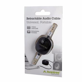 Avantree Retractable Audio Cable (Black) - 4