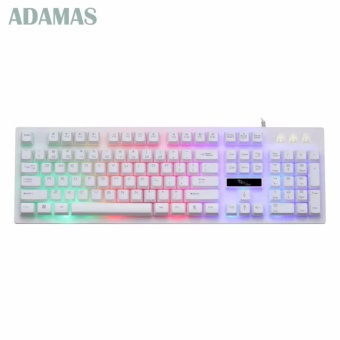 AWEADN G20 Backlight LED Pro Gaming Keyboard USB Wired Powered Gamer Keyboard With 2000 DPI Mouse For Computer Game LOL Light Gaming(WHite)