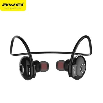 Awei A845BL Bluetooth V4.1 Noise Reduction Neckband Stereo Earphones (black)