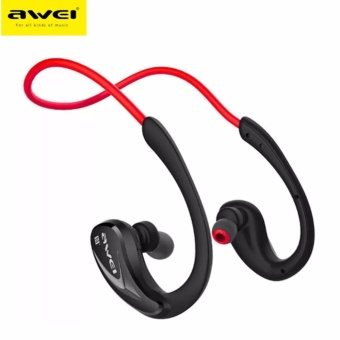 Awei A880bl Neckband NFC Bluetooth Ergonomic In-Ear Headset (Red)