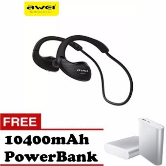 Awei A885BL Waterproof Wireless Sports Headphone with Free 10400mAh Power Bank (Black) Price Philippines