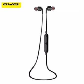AWEI A960BL Noice Cancelling Bluetooth In-Ear Headphone Earphone with Mic(Black) Price Philippines