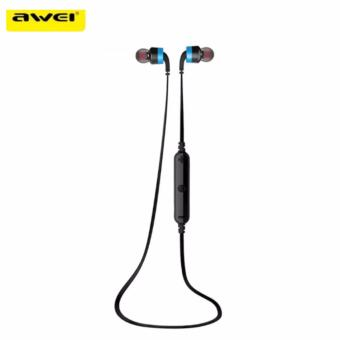 AWEI A960BL Noise Cancelling Bluetooth In-Ear Headphone Earphone with Mic(Blue) Price Philippines