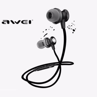 Awei A980bl Noise-Isolation Sweat-Proof with Magnetic Lock Bluetooth 4.0 Wireless Sporty In-Ear Headset (Black)