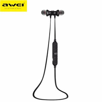 Awei A980BL Wireless Sports Bluetooth 4.0 Noise Isolation Earphonewith Hands-free Songs Track Function (Black) Price Philippines