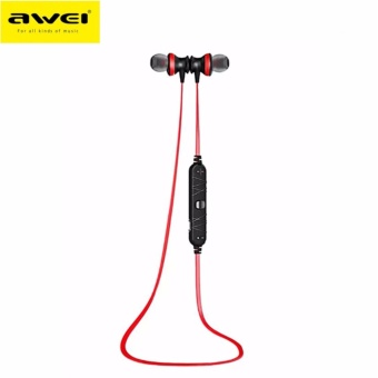 Awei A980BL Wireless Sports Bluetooth 4.0 Noise Isolation Earphonewith Hands-free Songs Track Function (Red) Price Philippines