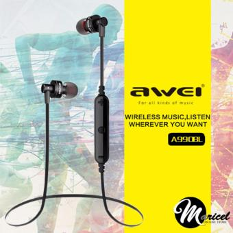 Awei A990BL Noise-Isolation Bluetooth V4.0 Stereo In-Ear Headset (Black)