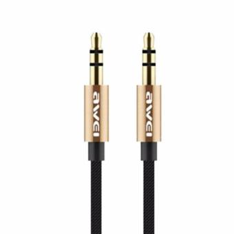 Awei AUX-001 1m Audio Aux Cable (Gold) Price Philippines