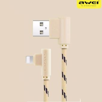 Awei CL-91 L-Jack 1M Lightning Connector Sync and Charge Data Cablefor iPhone Devices (Tyrant Gold)