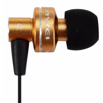 Awei ES - 900i Noise Isolation In-ear Earphone with 1.2m Cable Mic (Gold) - 2