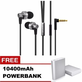 Awei ES - 900i Noise Isolation In-ear Earphone with 1.2m Cable Mic (Grey) with Free 10400mAh Power Bank Price Philippines