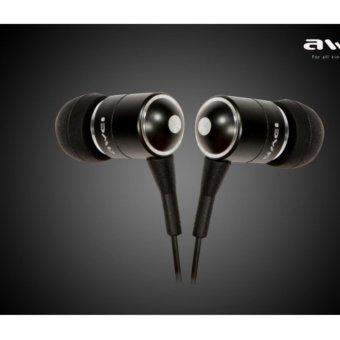 Awei ES-Q3 In-Ear Earphone Noise Isolation (Black) - 2