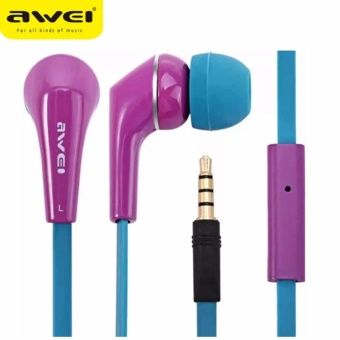 Awei ES - Q7i Noise Isolation In-ear Earphones (Violet)