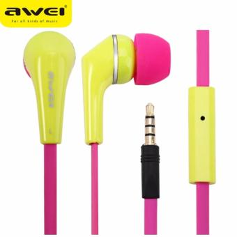 Awei ES - Q7i Noise Isolation In-ear Earphones (Yellow)