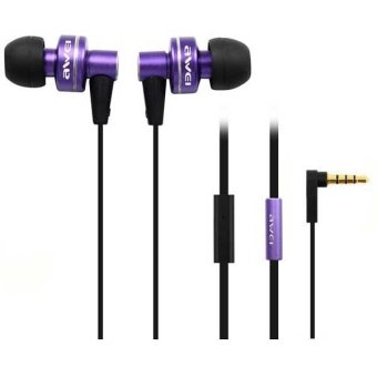 Awei ES900i Super-Bass Noise-Isolating In-Ear Headphones (Violet)