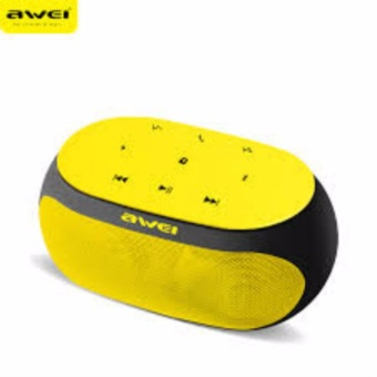 Awei Y200 Hi-Fi Wireless Portable Bluetooth Speaker with TF/AUX Slot (Yellow)