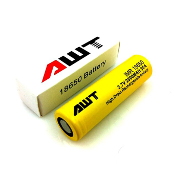 AWT 18650 2600 mAh Battery (Yellow) (1 Piece)
