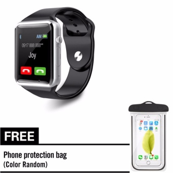 B08 sim card smart watch with free cellphone waterproof bag