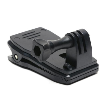 Back Pack Clip 360degrees for Action Cameras (Black)
