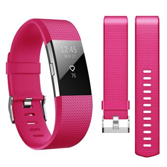 Band for Fitbit Charge 2 , Hanlesi Soft TPU Silicone AdjustableReplacement Sport Strap Band for Fitbit Charge2 Smartwatch HeartRate Fitness Wristband - intl