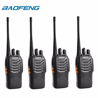 Baofeng BF-888S VHF/UHF FM TRANSCEIVER Portable Walkie-Talkie Two-Way Radio Set of 4