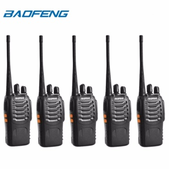 Baofeng BF-888S VHF/UHF FM TRANSCEIVER Portable Walkie-Talkie Two-Way Radio Set of 5