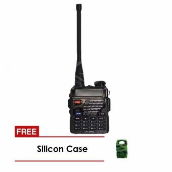 Baofeng / Pofung UV5RE VHF/UHF Dual Band Two-Way Radio (Black) with Frees Soft Silicon Case (Camouflage)