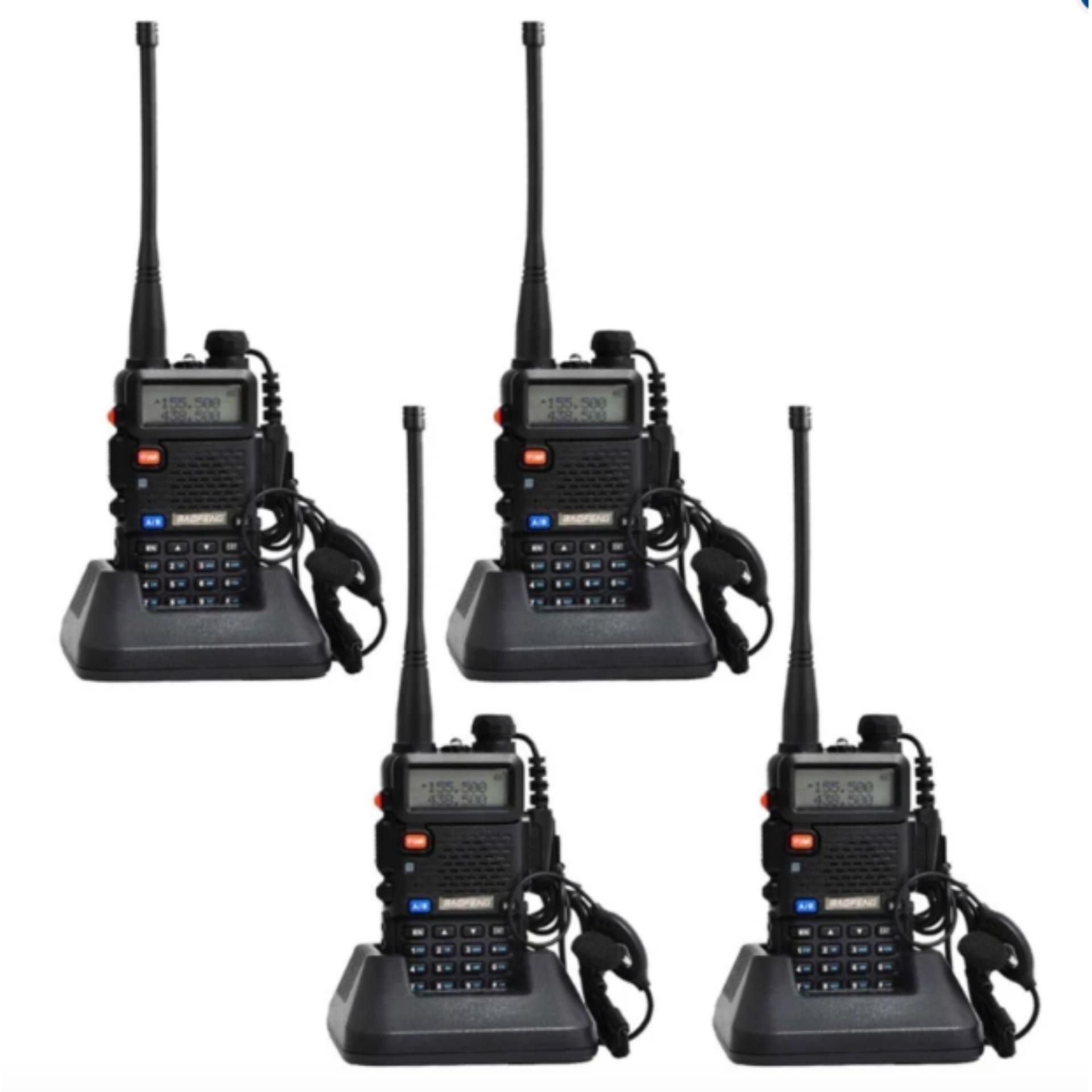Philippines Baofeng Uv 5r Walkie Talkie Dual Band Radio Ht Bf Uv5r Uhf Vhf Set Of 4black