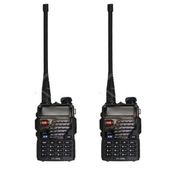 Baofeng/Pofung UV5RE VHF/UHF Dual Band Two-Way Radio (Black) Set of 2