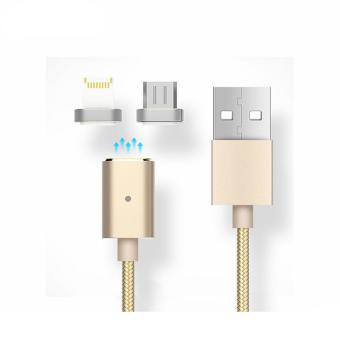 Bavin 2 in 1 Magnetic USB Data Cable and Charger For iPhones and Android Smart Phones (Gold)