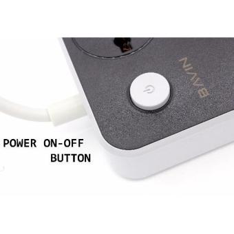 Bavin 6 USB Port with 3 Power Socket Multi-Function Universal FastCharger - 4