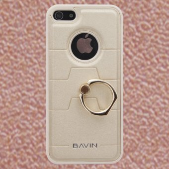 Bavin Leather/TPU Case with Ring Holder for iPhone 5/5s/5SE (Gold)