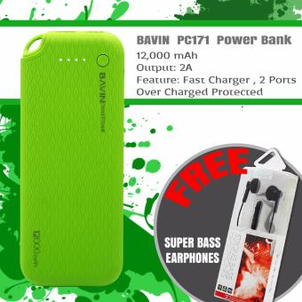 BAVIN PC171 12000mAh Power Bank (Green) With Free Earphones