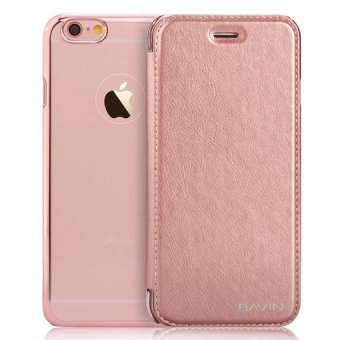 Bavin Protective Frosted Shell Flip PU Cover Case for iPhone 6Plus/6s Plus (Rose Gold) Price Philippines