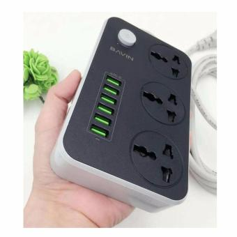 Bavin SC3604 6 USB Charging Ports with 3 Power Socket