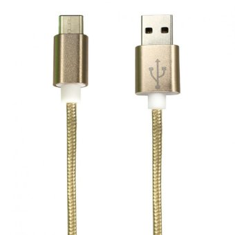 Bavin USB Type-C 3.1 1meter Data Cable For Tablet/Mobile Phone/Hard Disk Drive (Gold)
