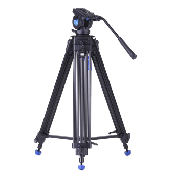 Benro KH25N Professional Video Tripod Aluminum Alloy Video Camera Tripod + Hydraulic Head Kit Max Load 5kg for Canon Nikon Sony Camera Camcorder (Black) - Intl