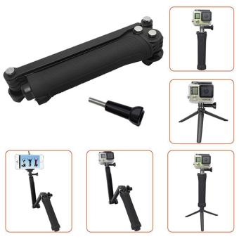 Best Quality GoPro Monopod Collapsible 3 Way Monopod Mount Camera Grip Extension Arm Tripod Stand for Gopro Hero 5 4 2 3 3+ 2 1 SJ4000