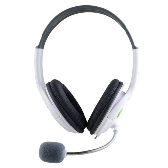 Big Gaming Chat Headset Headphone with MIC Microphone for Xbox 360 White by WWang Store - intl