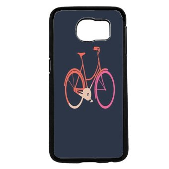BIKE Pattern Phone Case For Samsung Galaxy S6 (Black)