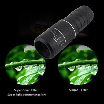 Black 10 x 40 Monocular Telescope Low Light Night Vision Dual FocusSports Hunting Survival Kit - intl