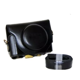 Black Camera PU Leather Case Cover Bag for Sony HX90