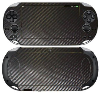 Black Carbon Fiber Decal Sticker Cover for PS vita Skin PSvita PSV Wallpaper
