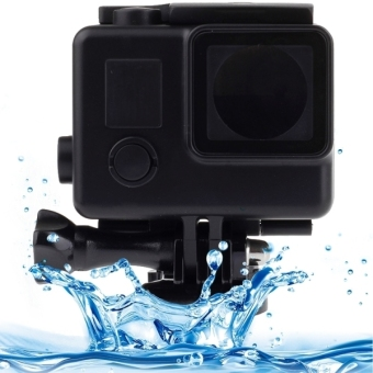 Black Edition Waterproof Housing Protective Case with Buckle Basic Mount for GoPro HERO4 /3+, Waterproof Depth: 45m(Black)