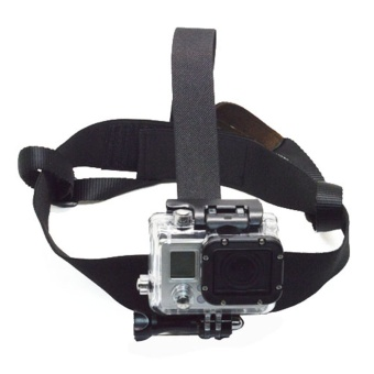 Black Elastic Harness Helmet Mount for GoPro Hero 5 4 3 MeetingMillet Easy 4K Eken H9 SJCAM SJ4000 Action Camera Accessories -intl Price Philippines
