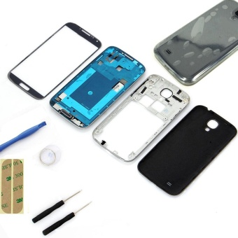 Black Full Housing Case Screen Glass Lens tools For Samsung Galaxy S4 i9500 - intl