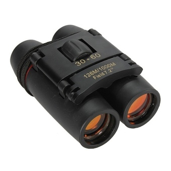 Black Horse Day And Night Vision 30x60 126m/1000m PoetableTelescope Folding Mini Binoculars