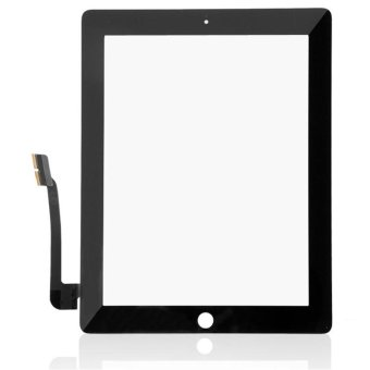 Black Replacement Touch Screen Glass Digitizer For iPad 3 - intl