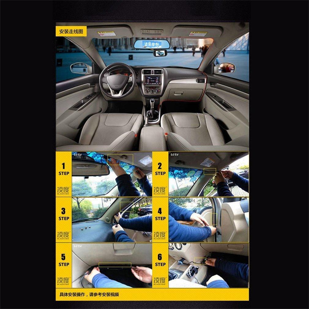 BLACKVIEW Professional 1080P Wide Angle 7.36 Inch HS995 GPS Navigation Car DVR Detector